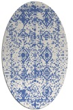 rug #1109106 | oval blue rug