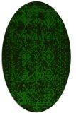 rug #1109118 | oval green damask rug