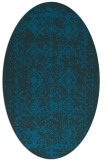 rug #1109126 | oval blue damask rug