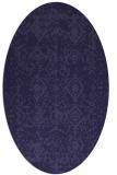 rug #1109149 | oval faded rug
