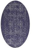 rug #1109150 | oval blue-violet rug