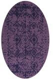 rug #1109158   oval purple damask rug
