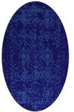 rug #1109162 | oval blue-violet traditional rug
