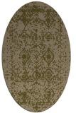 rug #1109174 | oval mid-brown rug