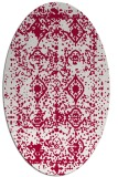 rug #1109178 | oval red traditional rug