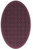 rug #110921 | oval purple circles rug