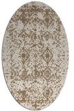 rug #1109214 | oval beige damask rug