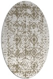 rug #1109218 | oval white faded rug