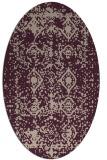 rug #1109230 | oval faded rug