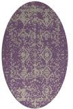 rug #1109242 | oval purple traditional rug