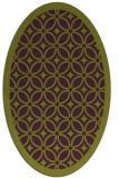 rug #110925 | oval green borders rug