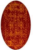 rug #1109262   oval red-orange faded rug