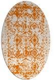 rug #1109266   oval orange traditional rug