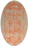 rug #1109270   oval orange faded rug