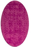 rug #1109278   oval pink damask rug