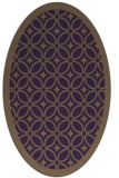 rug #110929 | oval mid-brown borders rug