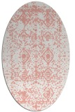 rug #1109290 | oval white faded rug