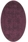 rug #1109294 | oval purple faded rug