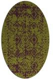 rug #1109298 | oval purple damask rug