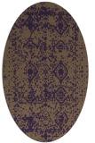 rug #1109302 | oval purple faded rug