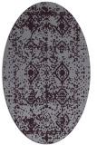 rug #1109306 | oval purple traditional rug
