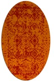 rug #1109314 | oval red traditional rug