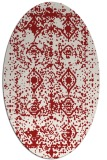 rug #1109318 | oval red traditional rug