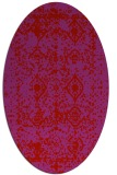 rug #1109322 | oval red damask rug