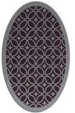 rug #110933 | oval purple borders rug