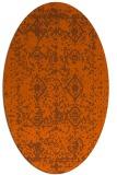 rug #1109334   oval red-orange faded rug