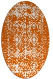 rug #1109338 | oval red-orange damask rug