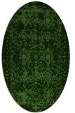 rug #1109344 | oval faded rug