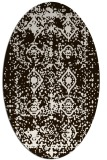 rug #1109358 | oval brown rug