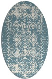 rug #1109366 | oval white faded rug