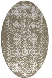 rug #1109370 | oval white faded rug