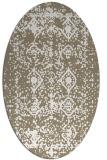 rug #1109370 | oval beige damask rug