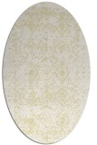 rug #1109378 | oval yellow rug