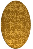 rug #1109386 | oval light-orange faded rug