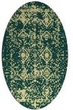 rug #1109390   oval yellow damask rug