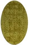 rug #1109394 | oval light-green damask rug