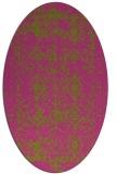 rug #1109402 | oval light-green rug