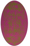 rug #1109402 | oval light-green damask rug