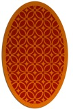rug #110941 | oval orange circles rug