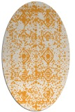 rug #1109422 | oval white faded rug
