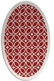 rug #110945   oval red circles rug
