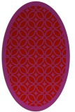 rug #110949 | oval red circles rug
