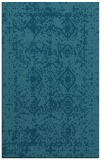 rug #1109498 |  blue-green damask rug