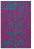 rug #1109510 |  blue-green damask rug