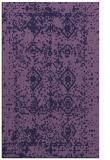 rug #1109526 |  blue-violet faded rug