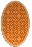 rug #110957 | oval red-orange borders rug